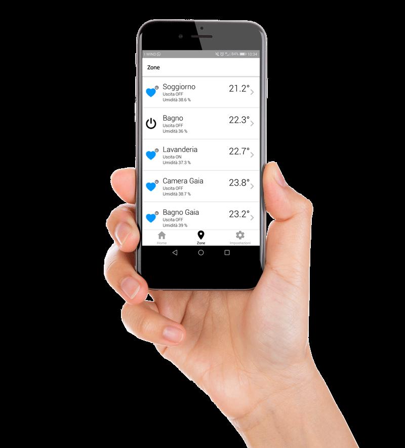 app telegestione e domotica